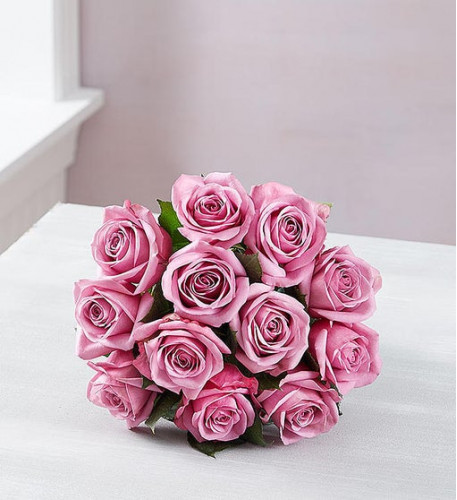 Passion For Purple Roses (12 Stems, Bouquet Only)