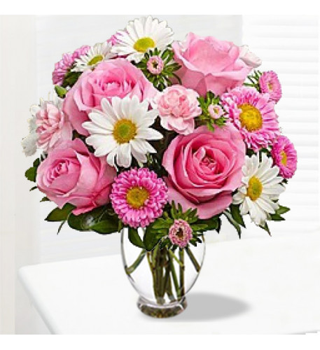 Sweet Roses And Daisies Bouquet