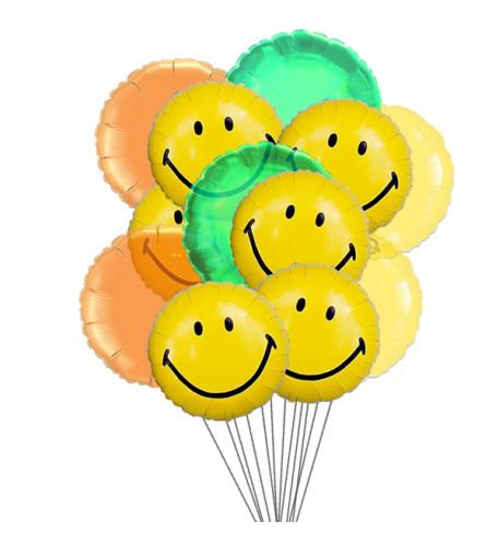 Wide smile balloons (6-Mylar & 6-Latex Balloons)