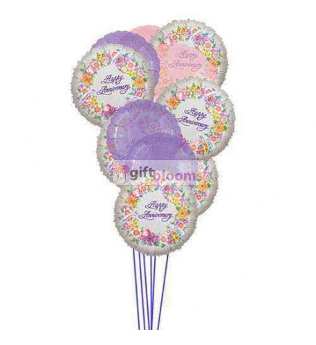 Cheerful anniversary balloons    (  6-Latex Balloons )