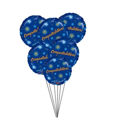 Congratulations Balloons (6 Mylar Balloons)