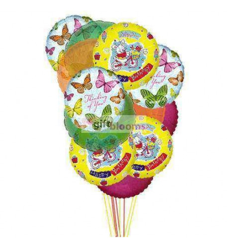 Balloons full of excitement    ( 6 Mylar and 6-Latex Balloons )