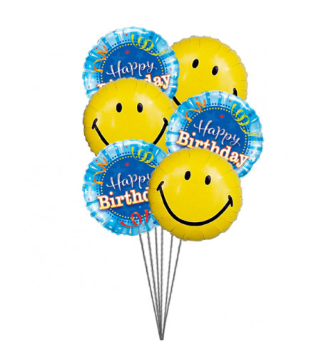 Smiley Birthday Balloons