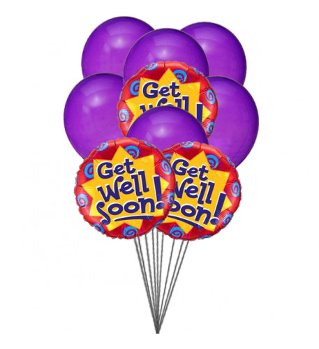Purply getwell balloons