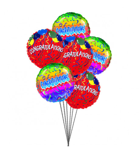 Congratulations with Balloons ( 6 Mylar Balloons)