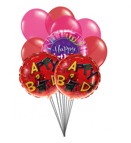 Cheering  birthday balloons