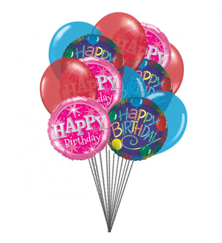 Birthday Greeting  balloons    (  6 Latex Balloons )