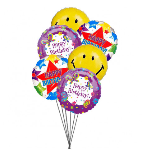 Birthday Party balloons (6 Mylar Balloons)