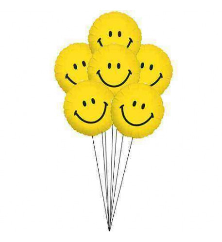Smiles for everyone (6 Mylar Balloons)