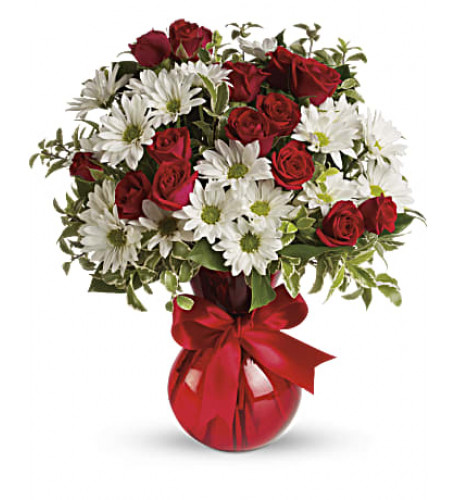 Red, White And You Bouquet by Giftblooms (Large)