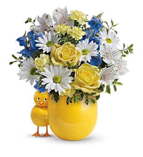 Sweet Peep Bouquet - Baby Blue (Standard)
