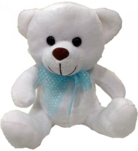 Teddy Bear With Blue Bow 20Cm