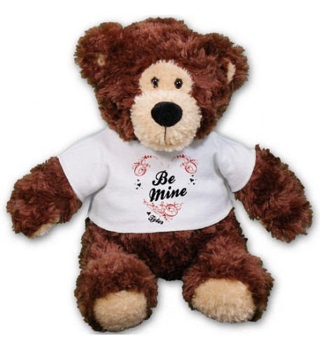 Personalized Be Mine Teddy Bear - 11 Inch