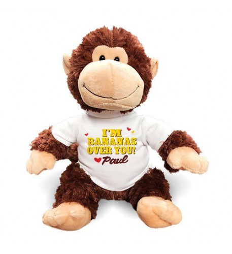 Personalized Bananas Over You Chimp - 12 (11 inch teddy)