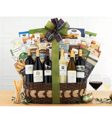 The Half-Dozen California Wine Gift Basket