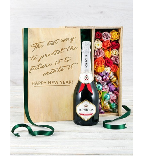 Bubbly Lindt And Rose Crate