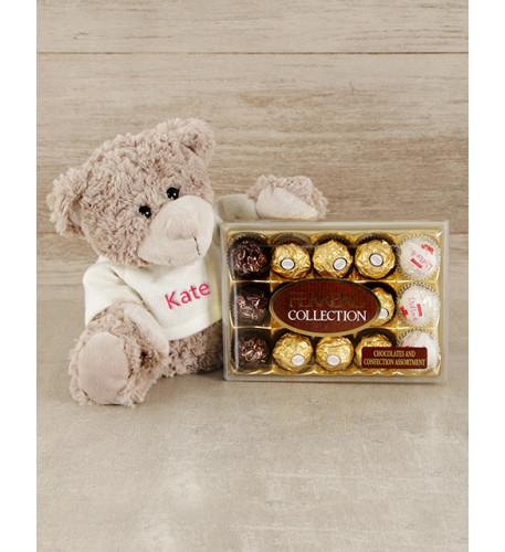 Personalised Teddy and Ferrero