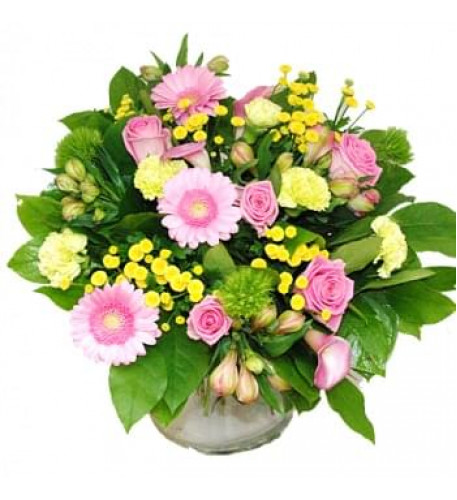 Bouquet Of Pink And Yellow Flowers (Medium)