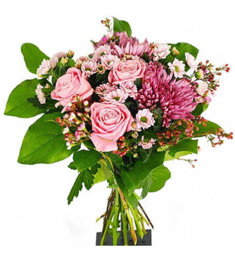 Send The Bouquet Pretty Pink As A Flower Messenger (Standard)
