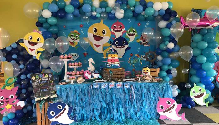 Little Shark Themed Birthday Party