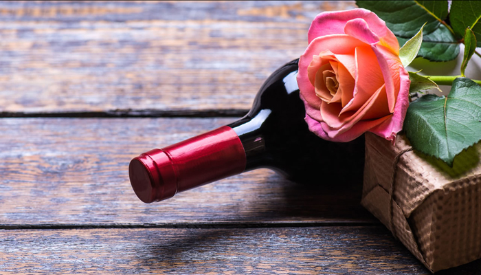 belated birthday gift ideas : farm fresh flowers and wine