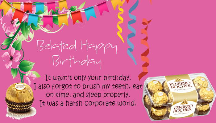 belated birthday gift ideas : ferrero rocher chocolate