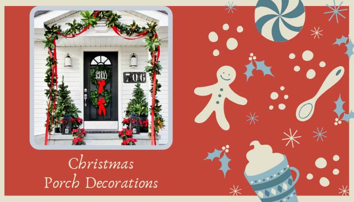 Pretty Poinsettias for Christmas Porch Decorations