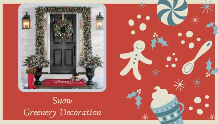 Snow Greenery Decoration & Include Santa