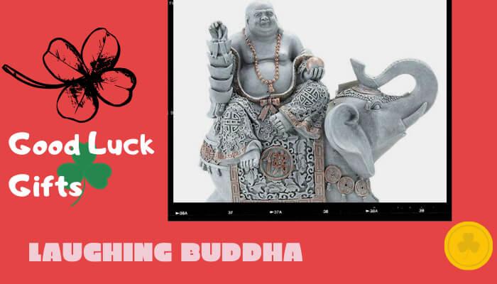 Laughing Buddha on an Elephant