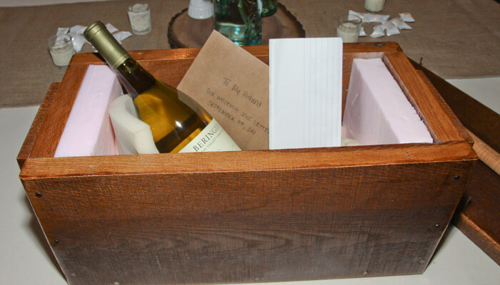 A Wine and Love Letters Box