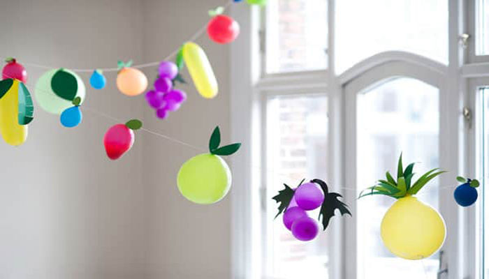 Balloons in a shape of fruit
