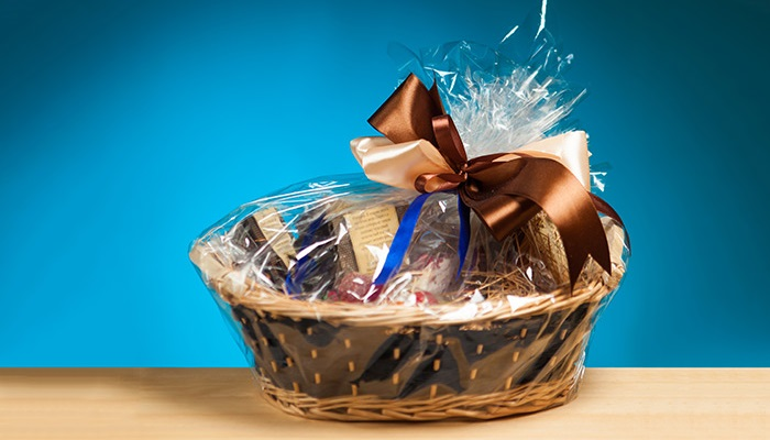 A Gift Basket with Assorted Items