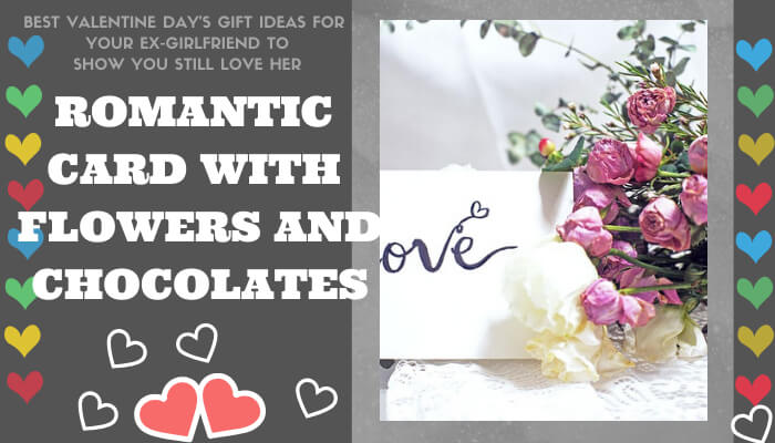A Romantic Card with Flowers and Chocolates