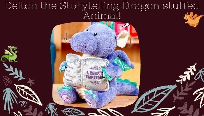 Delton the Storytelling Dragon Stuffed Animal