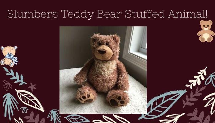 Slumber Teddy Bear Stuffed Animal