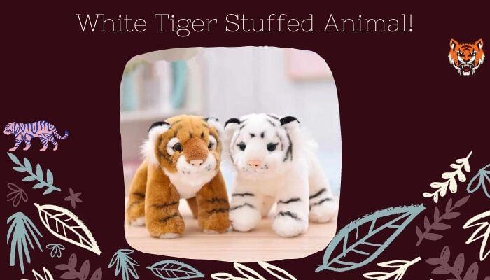 White Tiger Stuffed Animal