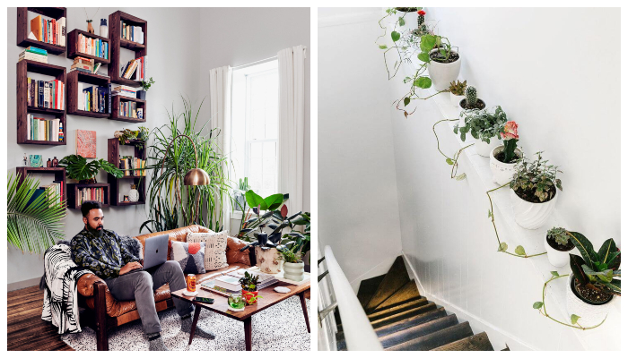 decorating bedroom with plants & flowers