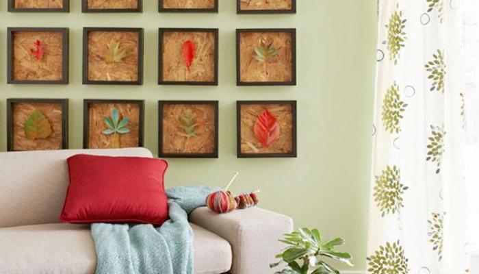 Botanical inspired living room theme