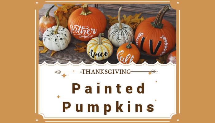 Use Painted Pumpkins as name tags