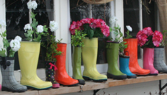 Planting Boots Window Boxes