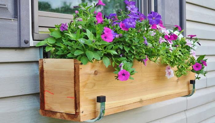 Wood Pallet Window Box