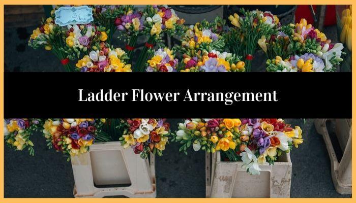 Ladder Flower Arrangement