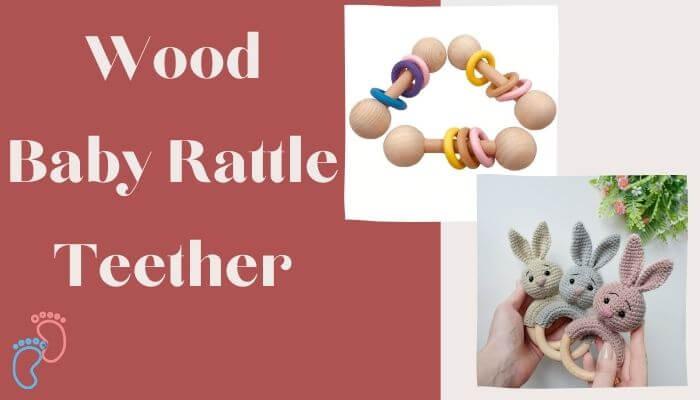 Wood Baby Rattle Teether