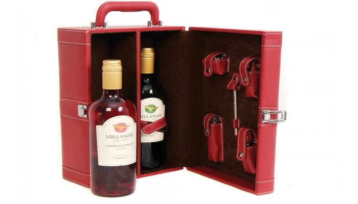 personalized wine bottle case