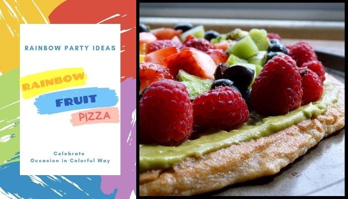 Colorful Rainbow Fruit Pizza