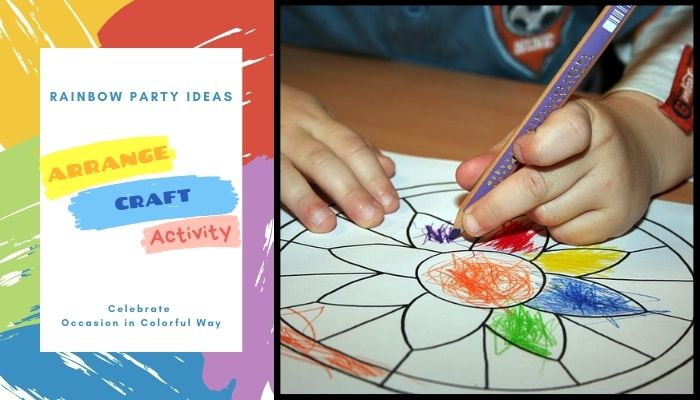 Arrange Craft Activity based on rainbow theme