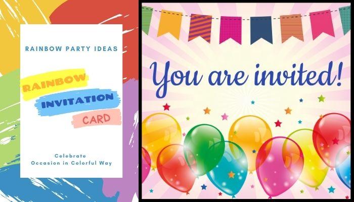 DIY Rainbow Invitation Card