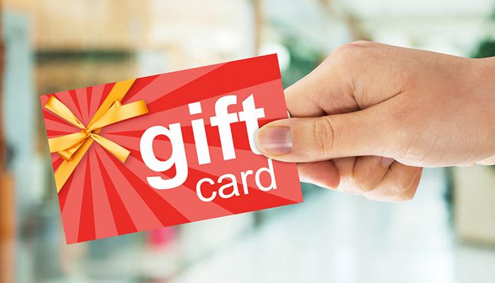 restaurant gift card