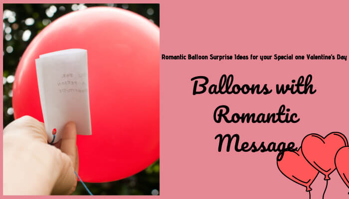 Balloons with romantic message