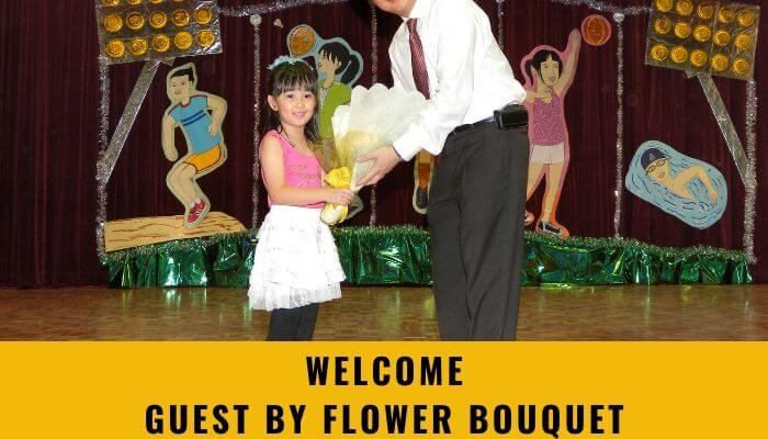 Welcome Guest by Flower Bouquet